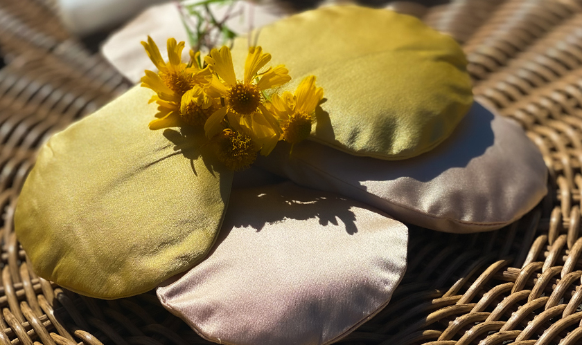 naturally dyed organic silk face mask ethical handmade product