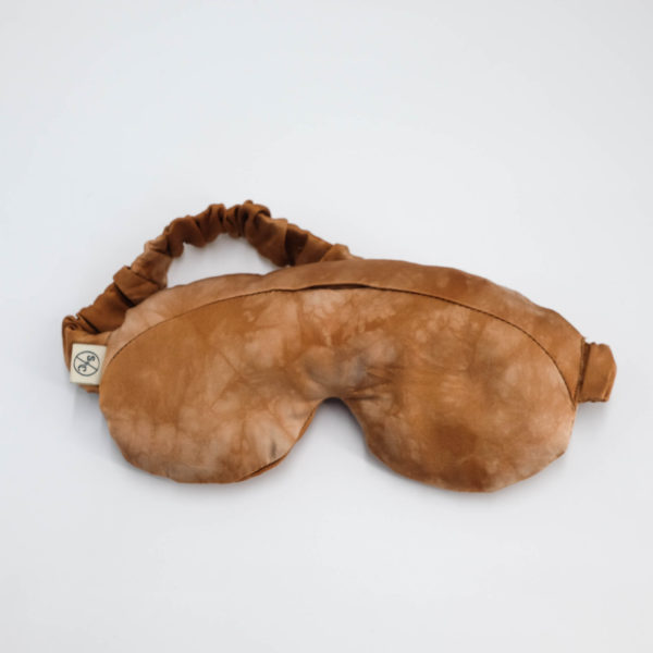 crystal eye mask naturally dyed silk desert haze front view