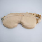 crystal eye mask naturally dyed silk pink sandstone front view