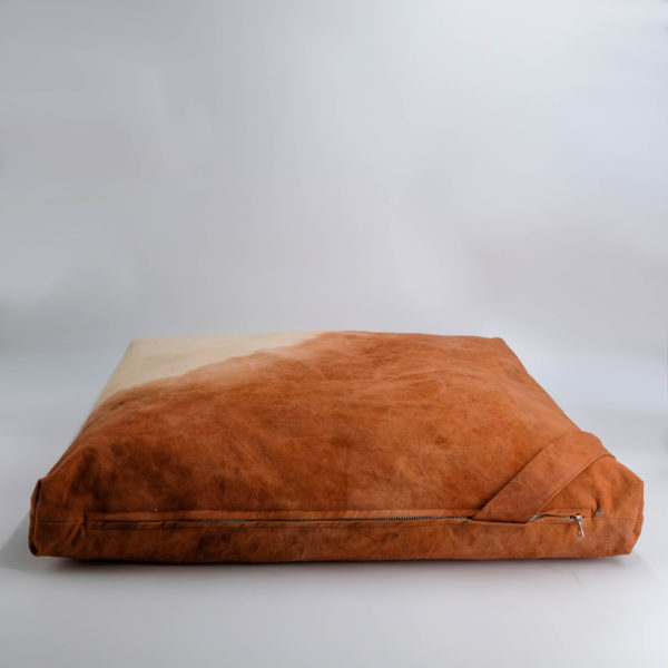floor cushion naturally dyed sustainable organic cotton canyon gradient side view