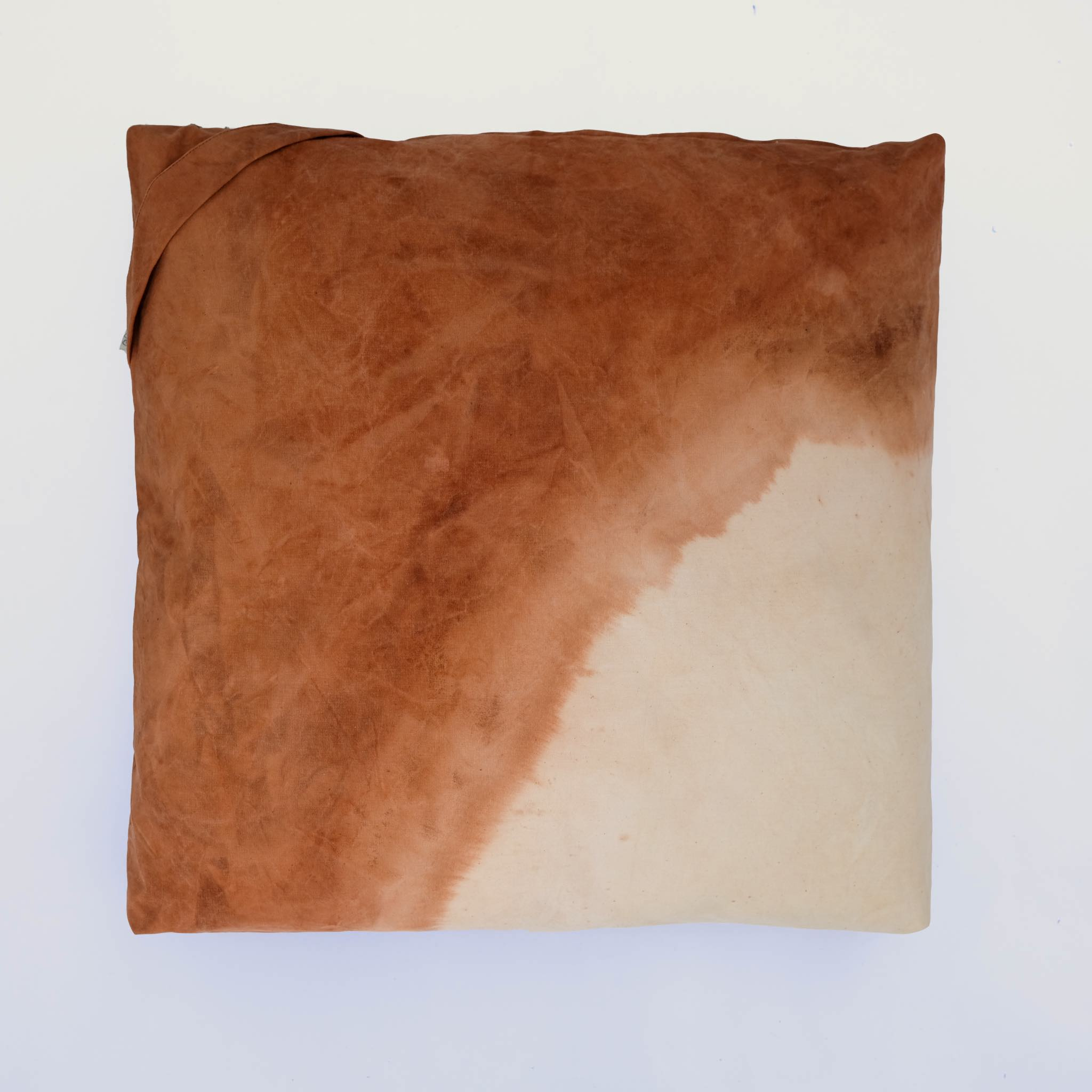 floor cushion naturally dyed sustainable organic cotton desert sunset top view