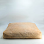 floor cushion naturally dyed sustainable organic cotton pink sandstone side view