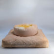 meditation cushion set naturally dyed sustainable organic cotton radiant sun side view