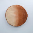 meditation cushion naturally dyed sustainable organic cotton desert sunset top view