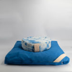 meditation cushion set naturally dyed sustainable organic cotton side view