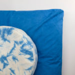 meditation cushion set naturally dyed sustainable organic cotton top view