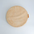 meditation cushion naturally dyed sustainable organic cotton blush top view