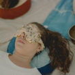 crystal eye mask naturally dyed silk