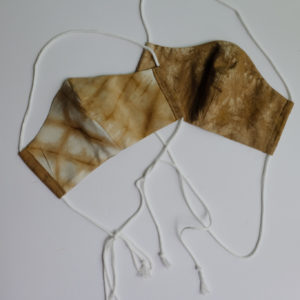 naturally dyed silk and cotton reversible face mask black walnut