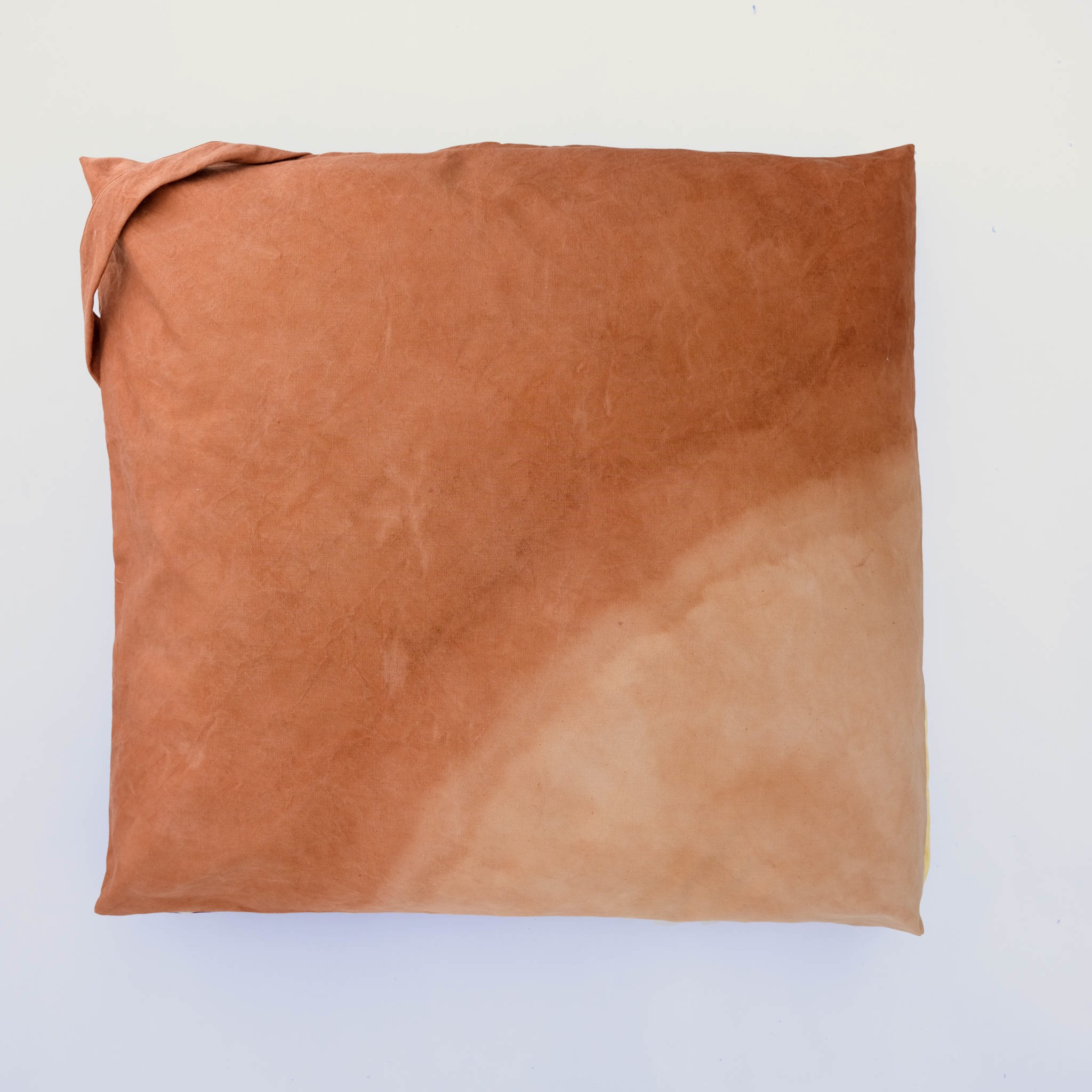floor cushion naturally dyed sustainable organic cotton canyon gradient front view
