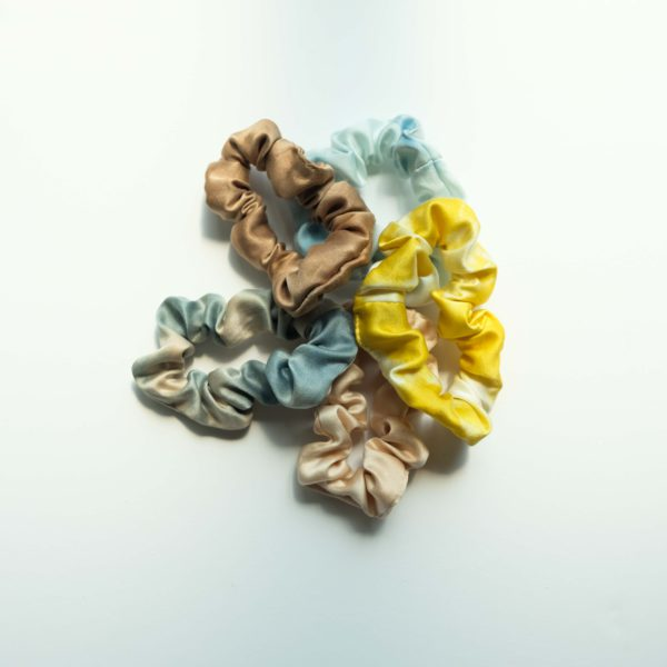 naturally dyed silk scrunchie all colors