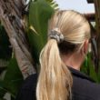 naturally dyed silk scrunchie in hair